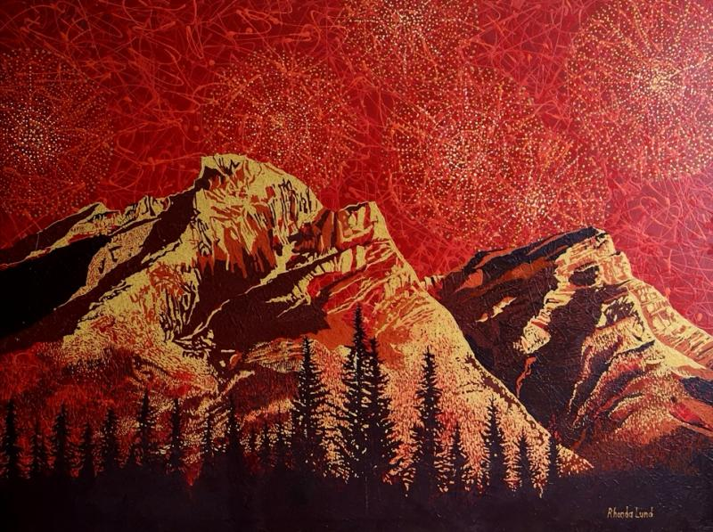 Rocky Mountains in Red